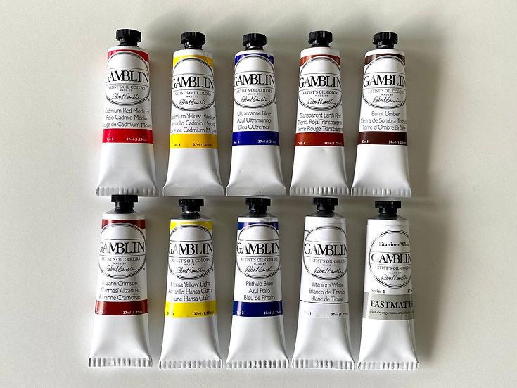 Richard J Oliver full set of Gamblin Artist Oils