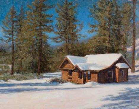 Derelict cabin near Mount Pinos