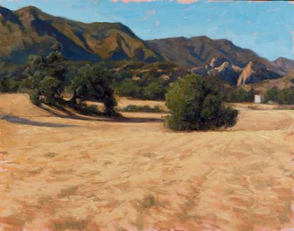 Santa monica Mountains from King Gillett