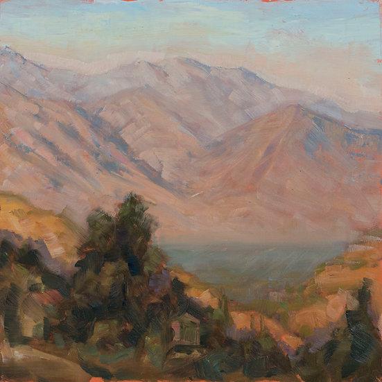Sun Setting on the San Fernando Valley