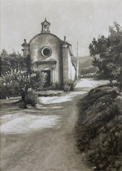 Small church in Maubec, Provence
