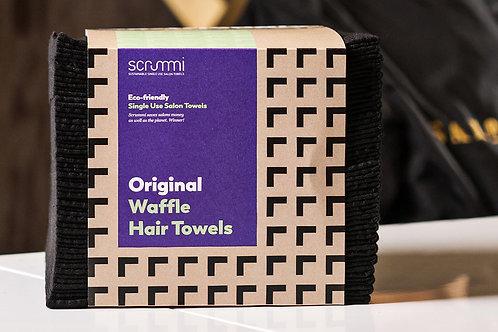 Scrummi Waffle Black Hair Towels 500 Pack