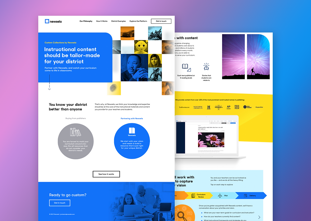 Used for interactive landing pages, ebooks, and infographics.