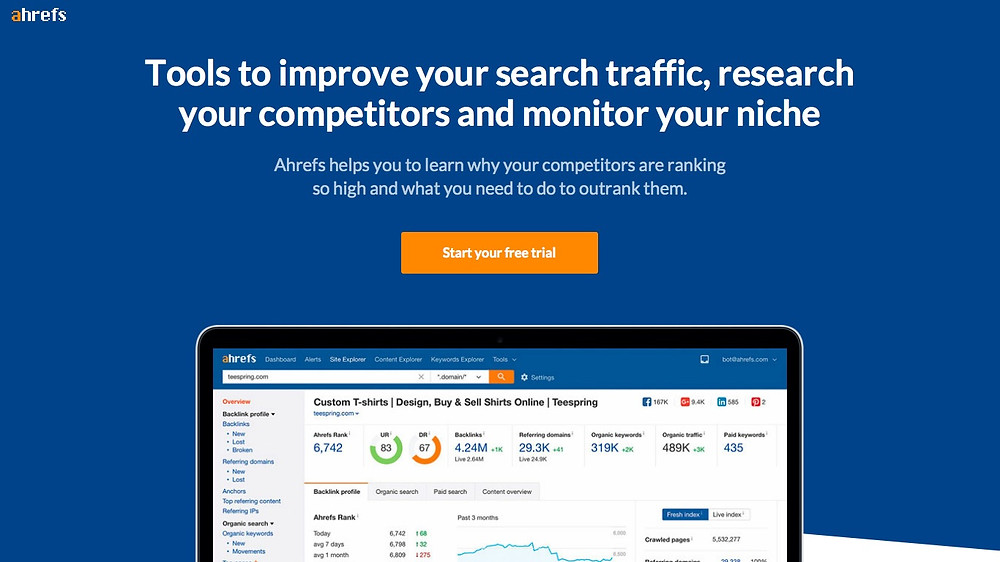 Used for deep diving into all of your SEO metrics