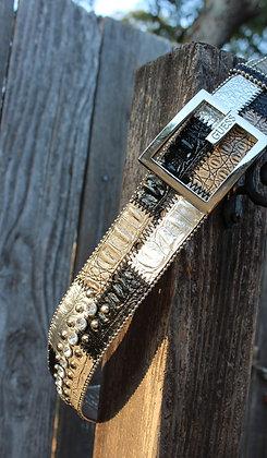 Metallic studded belt (Guess)