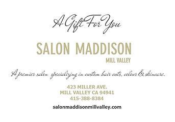 Salon Maddison Gift Certificates