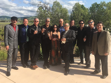 At Wente Winery, CA with long time friends and bandmates.