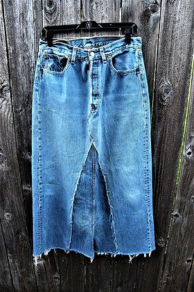 Vintage Jean Maxi Skirt