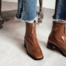 Chiko Teddi Square Toe Block Heels Boots