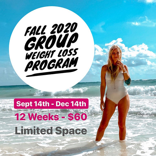 Fall 2020 Group Weight Loss Sept 14th - Dec 14th
