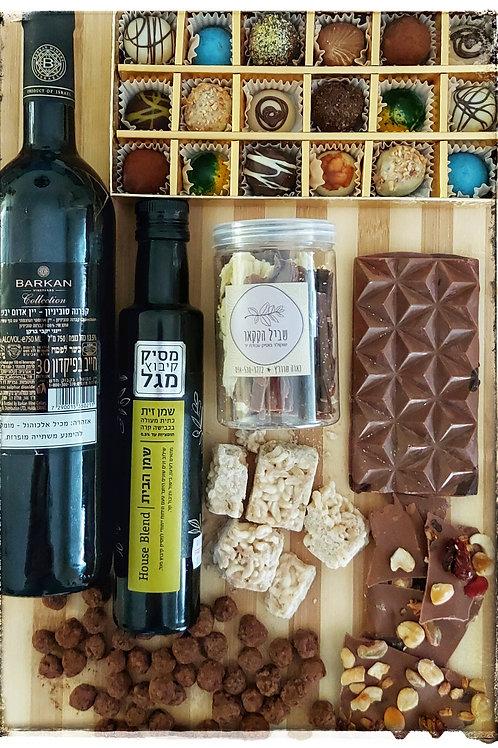 מארזי שוקולד לכול ארוע  ,אפשרות להרכבה עצמית ממוצרי החנות, ניתן להוסיף בקבוק יין