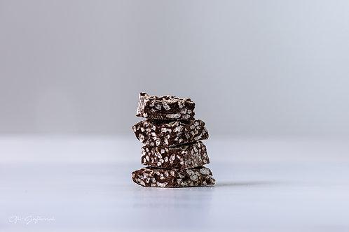 פצפוצי אורז שוקולד מריר, בתוספת גרדת תפוז וסילאן