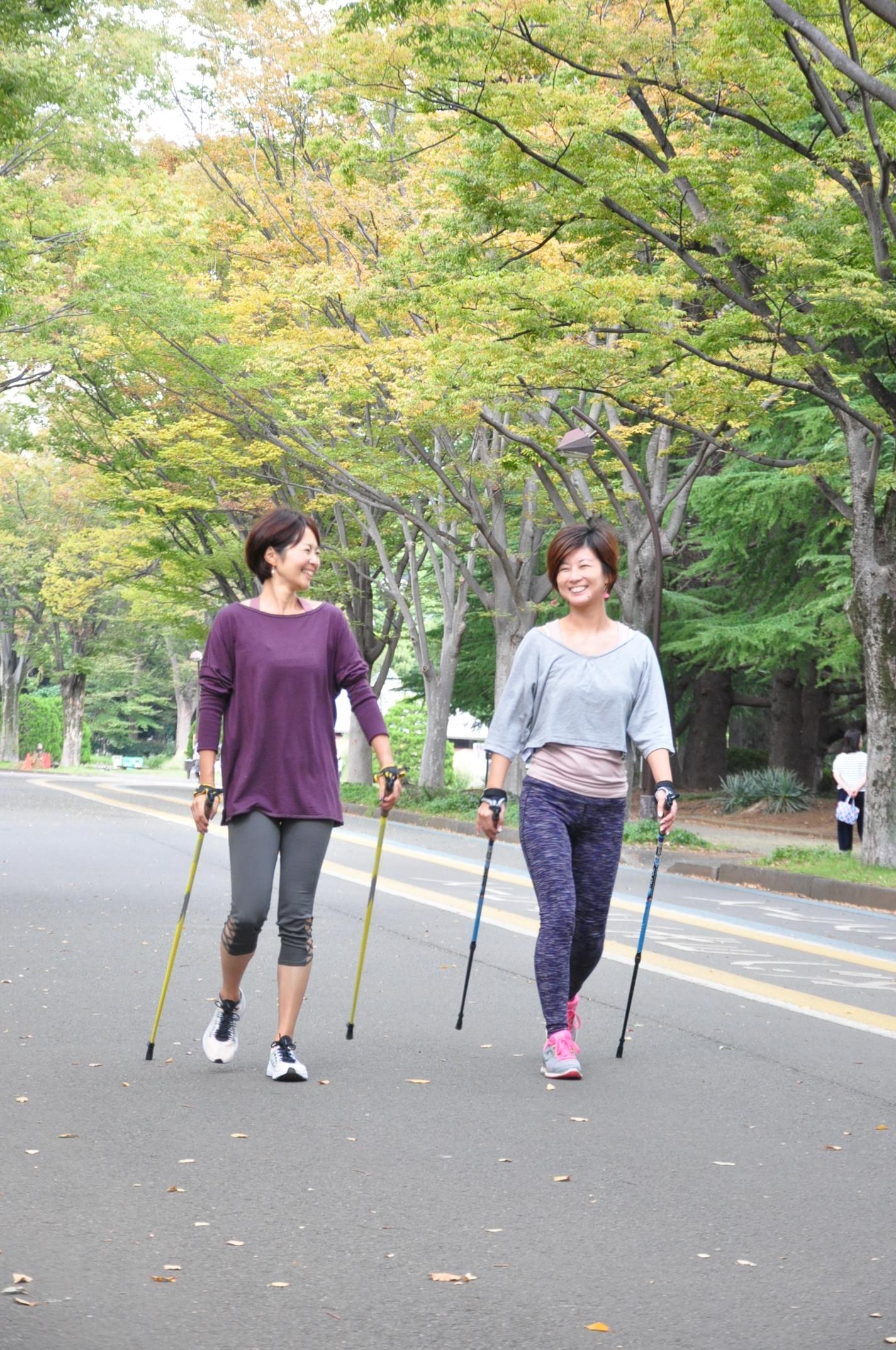 キレイをつくるノルディックウォーキング<駒沢公園>