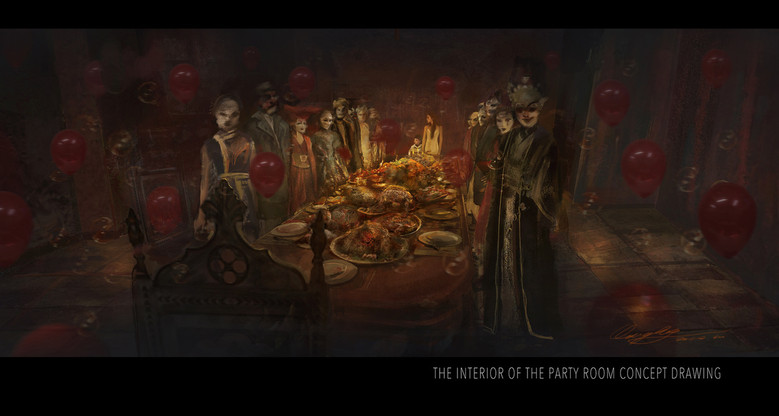 Concept Art: The Party Room