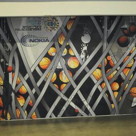 מיתוג קירות גדולים בהיכל נוקיה, קודם פתיחת עונת 2013