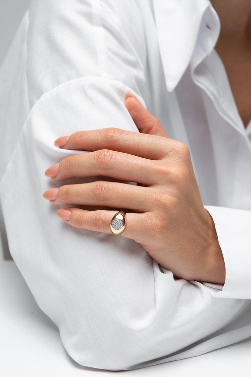 Pave pırlantalı küçük parmak yüzüğü