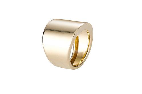 Sarı altın geniş düz yüzük