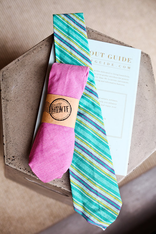 Upcycled Green Tie