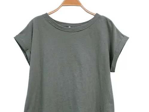 100% Recycled Cotton Plain Crop Tee
