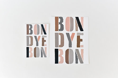 Proverb Print: Bondye Bon (God is Good)