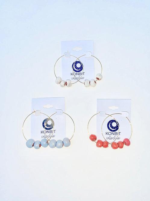 """The """"Clelie"""" Hoop (3 beads)"""