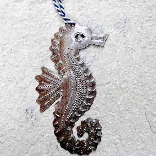Steel Seahorse Ornament- Preorder