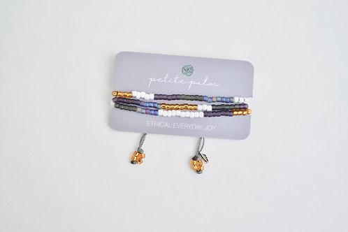 Petite Palm Trinity Bracelet (Purple)