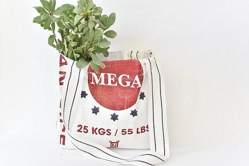 "Upcycled Bag -""Mega"" Brand"