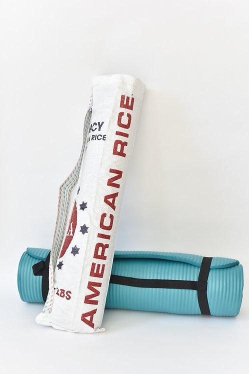 Upcycled Yoga Bag- White