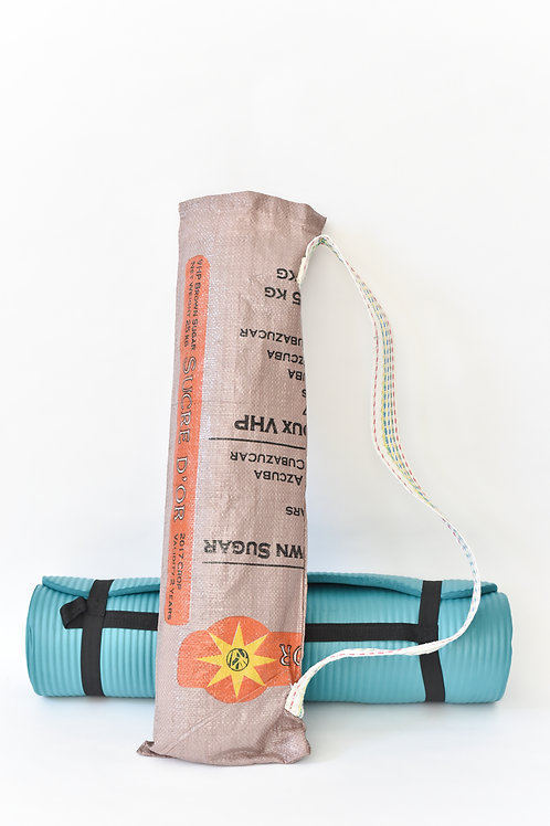 Upcycled Yoga Bag- Brown