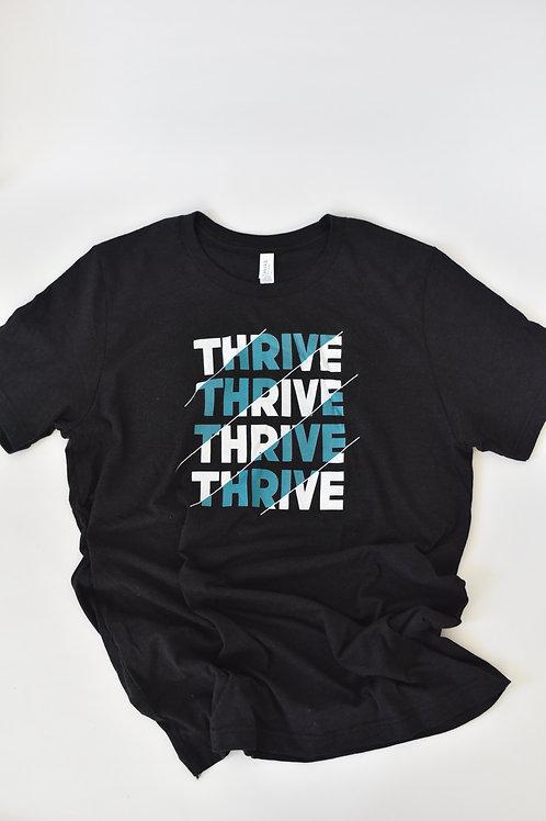 Black Thrive Tee
