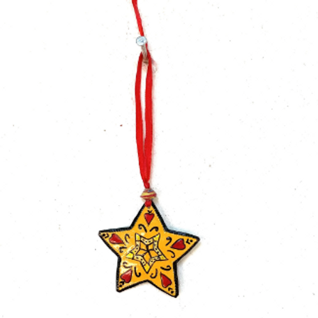Painted Star Ornament- Preorder