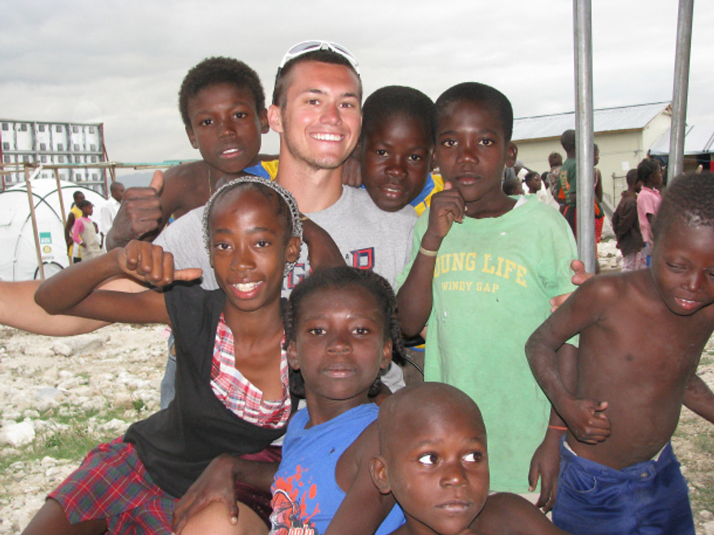 Ryan and some more tent city kids