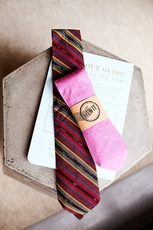 Upcycled Brown Striped Tie