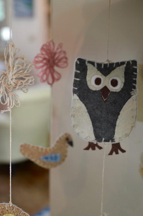 Daisy Owl Mobile
