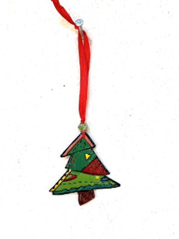 Painted Christmas Tree Ornament- Preorder