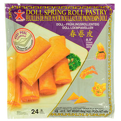 """Doll Spring Roll Pastry (8.5"""" x 24pack) 400g"""