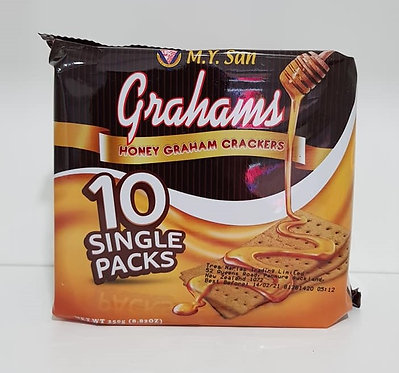 M.Y. San Grahams Honey Graham Crackers 10's 250g