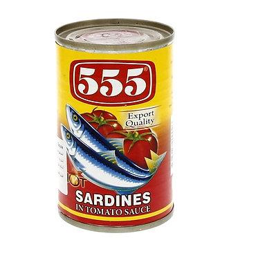 555 Sardines Tomato Sauce with Chili 155g
