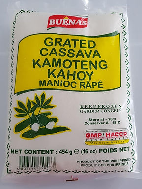 Buenas Frozen Grated Cassava 454g