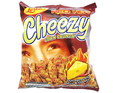 Leslie's Cheezy Corn Crunch - Red Hot 150g