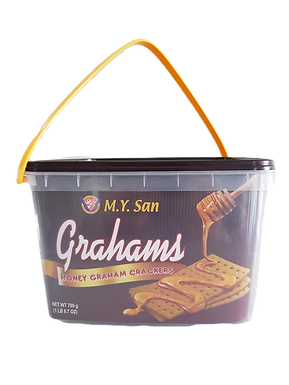 M.Y. San Grahams Honey Graham Crackers Pail 700g