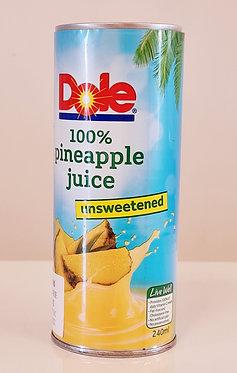 Dole Pineapple Juice Unsweetened 100% 240mL