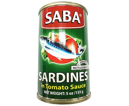 Saba Sardines in Tomato Sauce Regular 155g