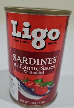 Ligo Sardines Hot 155g