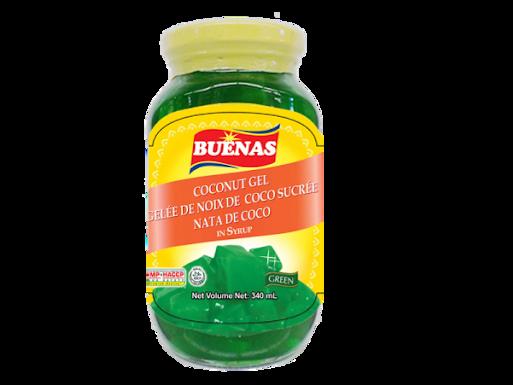 Buenas Nata de Coco Coconut Gel (Green) 340g
