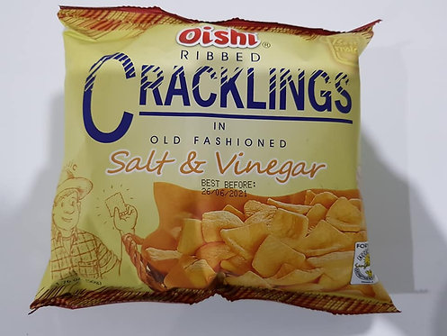 Oishi Ribbed Crackling Salt & Vinegar 50g