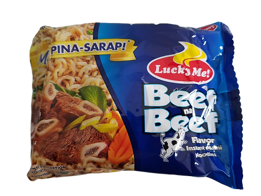 Lucky Me Instant Noodles Beef Flavour 55g