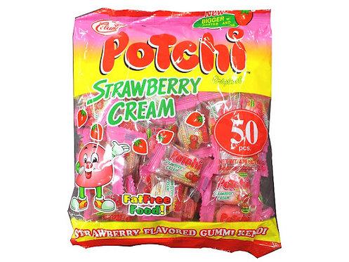 PotchiStrawberryCreamGummyCandy 50 pcs
