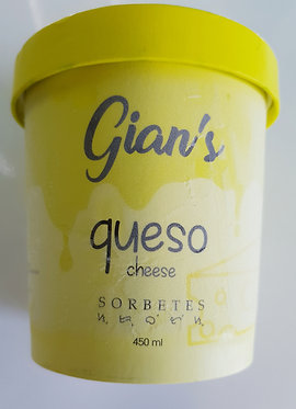 Gian's Sorbetes Queso Flavour (Cheese) 450mL - Click & Collect Only